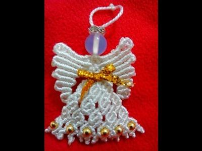 #4 ANGEL DE NAVIDAD EN MACRAME ✿ANGEL CHRISTMAS MACRAME ✿ANJO DE NATAL MACRAMÉ✿ANGE DE NOËL MACRAMÉ