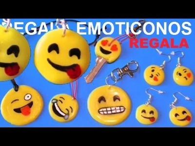 Emoticonos colgantes pendientes, llaveros Emojis collares silicona caliente - Manualidades Ahora