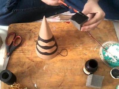 Gorros de fiesta en papel craft