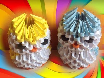 Mini Búho de Origami 3D - Tutorial