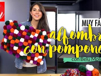 MUY FÁCIL: Cómo hacer una alfombra con pompones de lana | Belu Decó con Belu Molina