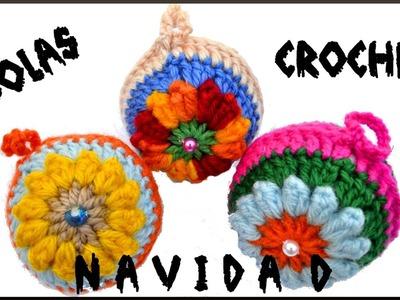 Como hacer Bolas en crochet para Navidad tutorial paso a paso!