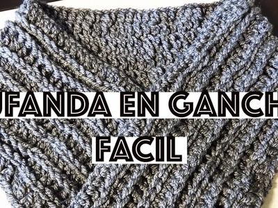 DIY BUFANDA FÁCIL DE GANCHILLO UNISEX