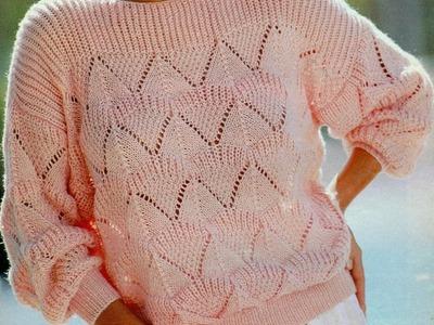 Patrón para tejer jersey en punto de arroz