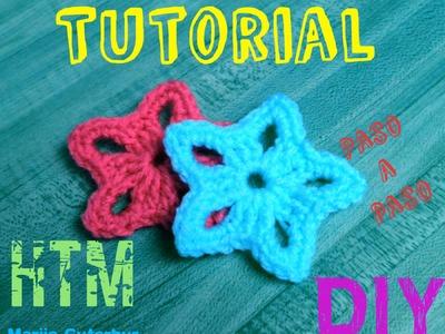 Aprende A Tejer  Estrellas: Tejidas a crochet!!!
