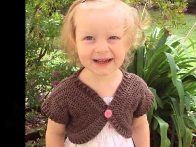 Boleros para niñas a crochet