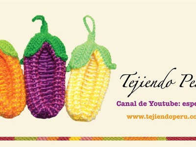 Choclo o maíz agarrador de ollas en dos agujas y crochet (Parte 1: choclo)