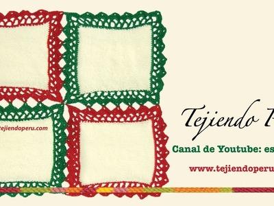 Cómo hacer manteles o caminos de mesa uniendo cuadrados con borde a crochet