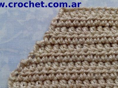 Como disminuir un escote V en tejido crochet tutorial paso a paso.