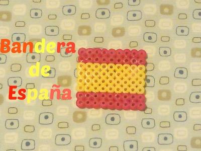 Como hacer bandera de españa con  hama beads