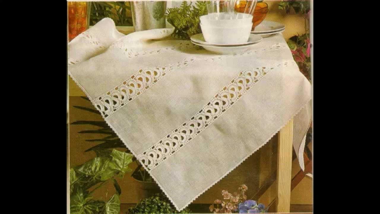 Como hacer mantel de lino con entredos a crochet my - Hacer un mantel ...