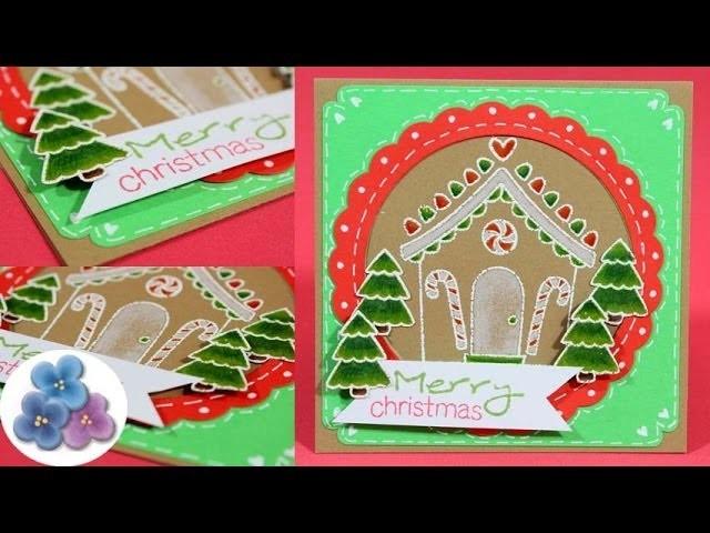 Como Hacer Tarjetas de Navidad 2014 DIY *Christmas Cards* Scrapbook Tarjetas Navideñas Pintura Facil