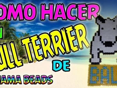 COMO HACER UN BULL TERRIER de hama beads - Pixel Art perler