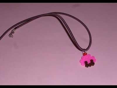 Como hacer un colgante de hama beads con forma de CUPCAKE