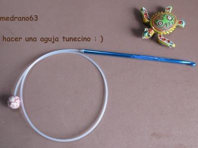 Como hacer una aguja tunecina para crochet