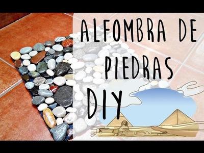 Cómo hacer una alfombra de PIEDRAS decorativa | Tutorial DIY