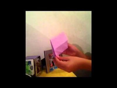 Como hacer una Carta.Sobre de corazon origami