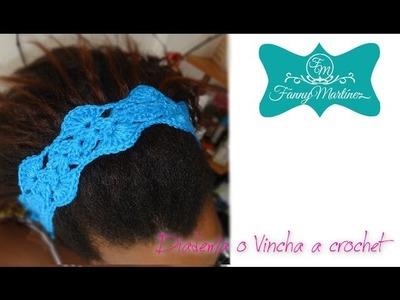*Como hacer una Diadema o vincha a crochet Facilmente*