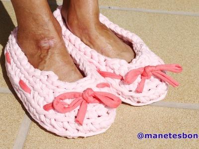 Cómo hacer zapatillas con trapillo | Tutorial DIY Crochet XXL