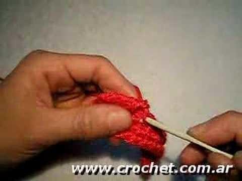 Como tejer el Punto Cangrejo en tejido crochet, tutorial paso a paso.