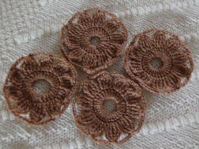 Como Tejer Flor de 10 Petalos a Crochet
