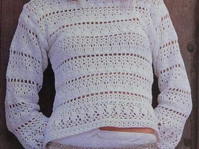 Como Tejer sweater calado a crochet