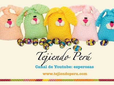 Conejos de Pascua rellenos de chocolates!!! (tejidos en crochet, amigurumi)