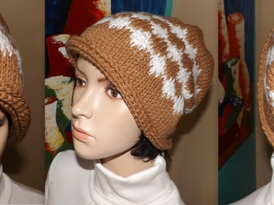 Crochet Gorro Caido Tunecino Para Mujer