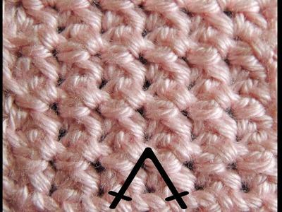 Curso Basico de Crochet : Punto Bajo en Disminucion