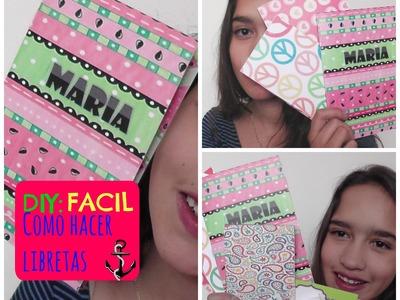 DIY: Como hacer libretas FACIL - Maribla♡