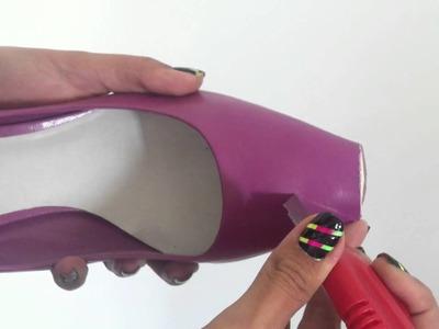 DIY Convertir zapatos de pico en puntas abiertas :)