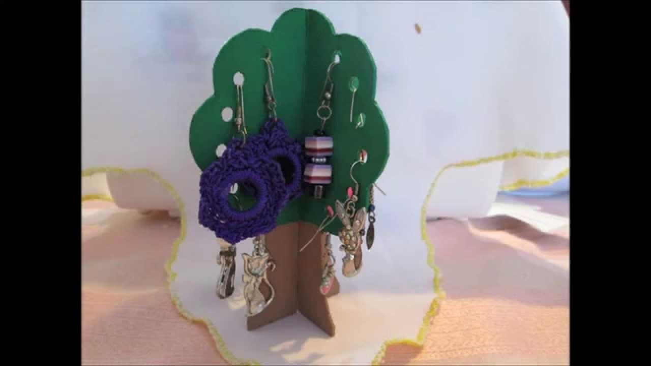 DIY - Earring Tree. Árbol cuelga aros