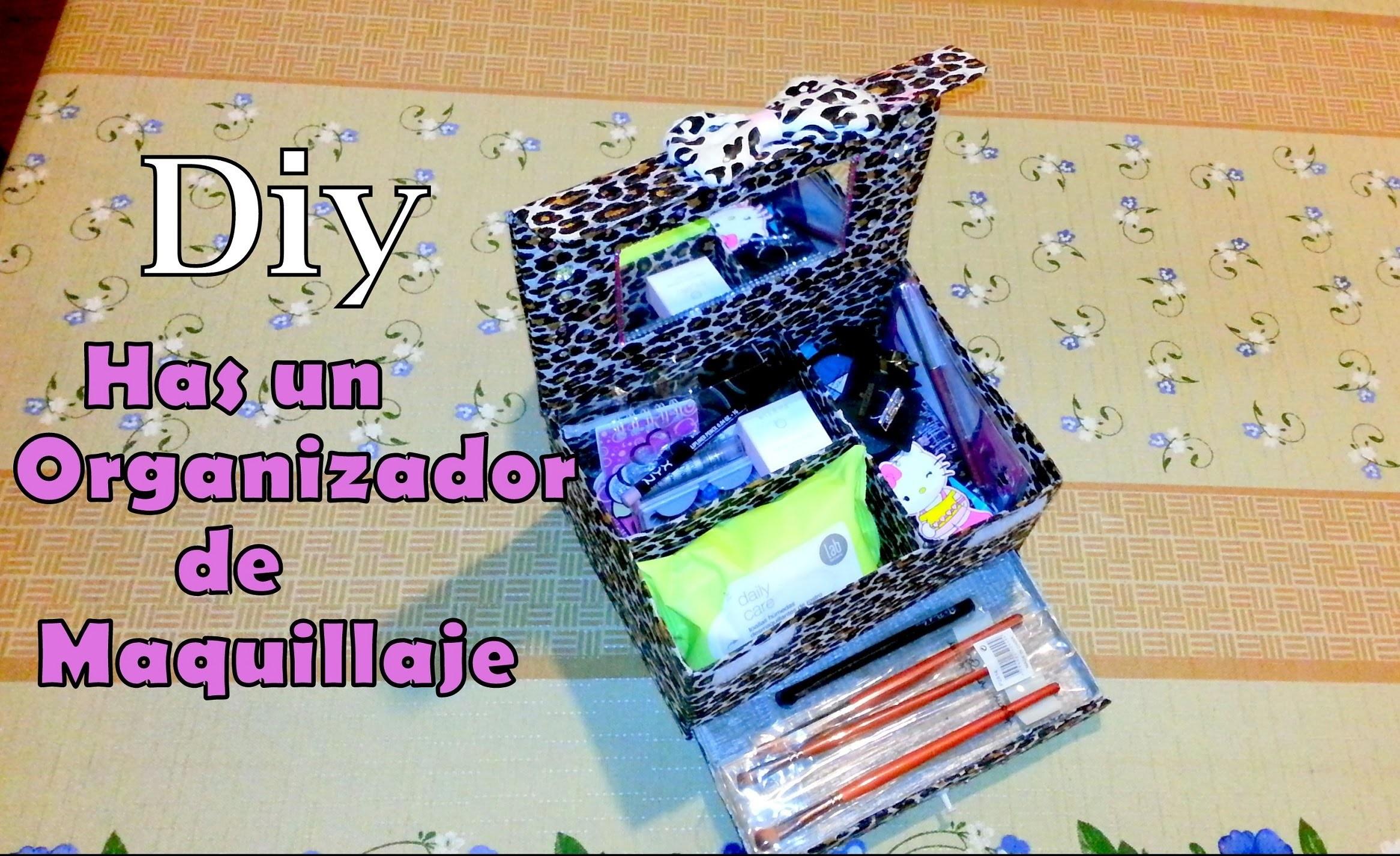 DIY organizador de maquillaje (makeup organizer)