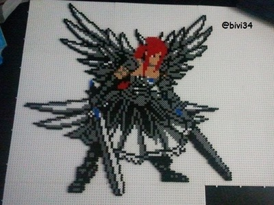 Erza, Fairy Tail DIY hama beads midi