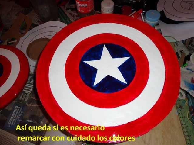 Escudo del Capitan América para niños.