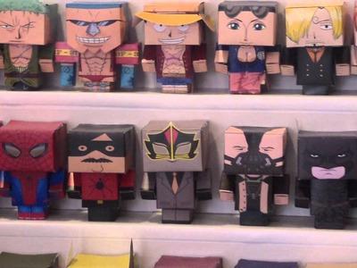 Exposición Papercraft personajes famosos - Murcia se remanga 2012