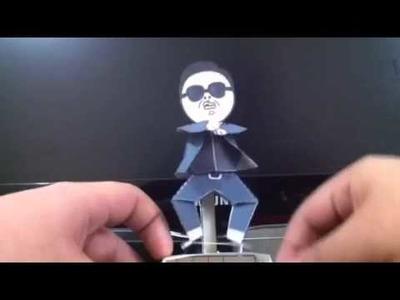 Gangnam style y papercraft xD