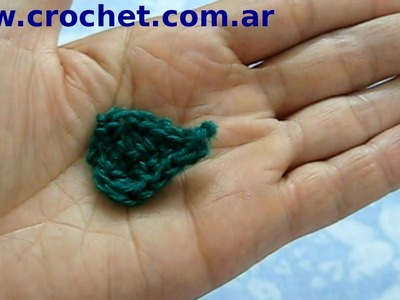 Hoja N° 2 en tejido crochet tutorial paso a paso.
