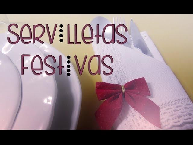 Ideas para servilletas en Navidad - DIY Christmas