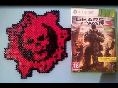 Manualidades de Videojuegos #2 Logo Gears of War con Hama Beads