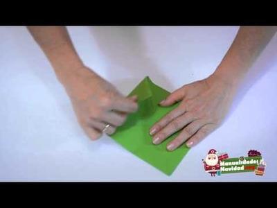 ORIGAMI: Caja navideña de papel para regalos