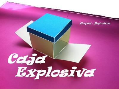 Origami - Papiroflexia. Caja Explosiva para hacer regalos.