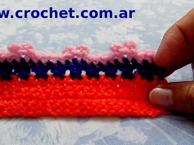 Puntilla N° 63 en tejido crochet tutorial paso a paso.