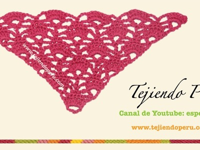 Punto triangular tejido a crochet
