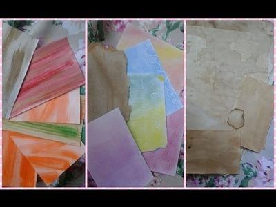 Scrapbook-Cómo hacer tu propio papel Decorado (3 ideas)