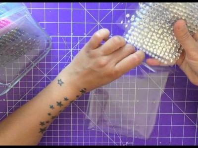 SCRAPBOOKING. Cómo organizar perlas y brillantes adhesivos