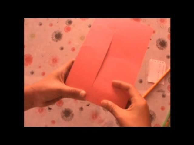 Tarjeta scrapbook.tri-fold card