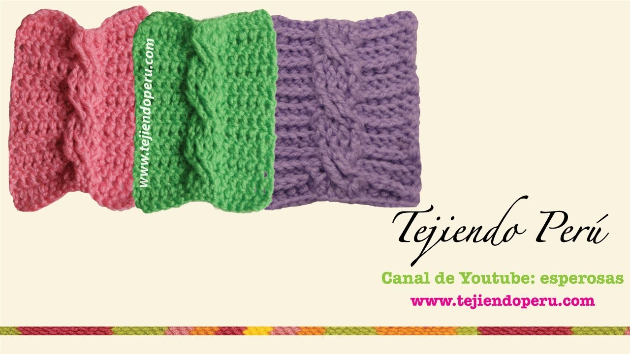 Trenzas u ochos tejidas en crochet