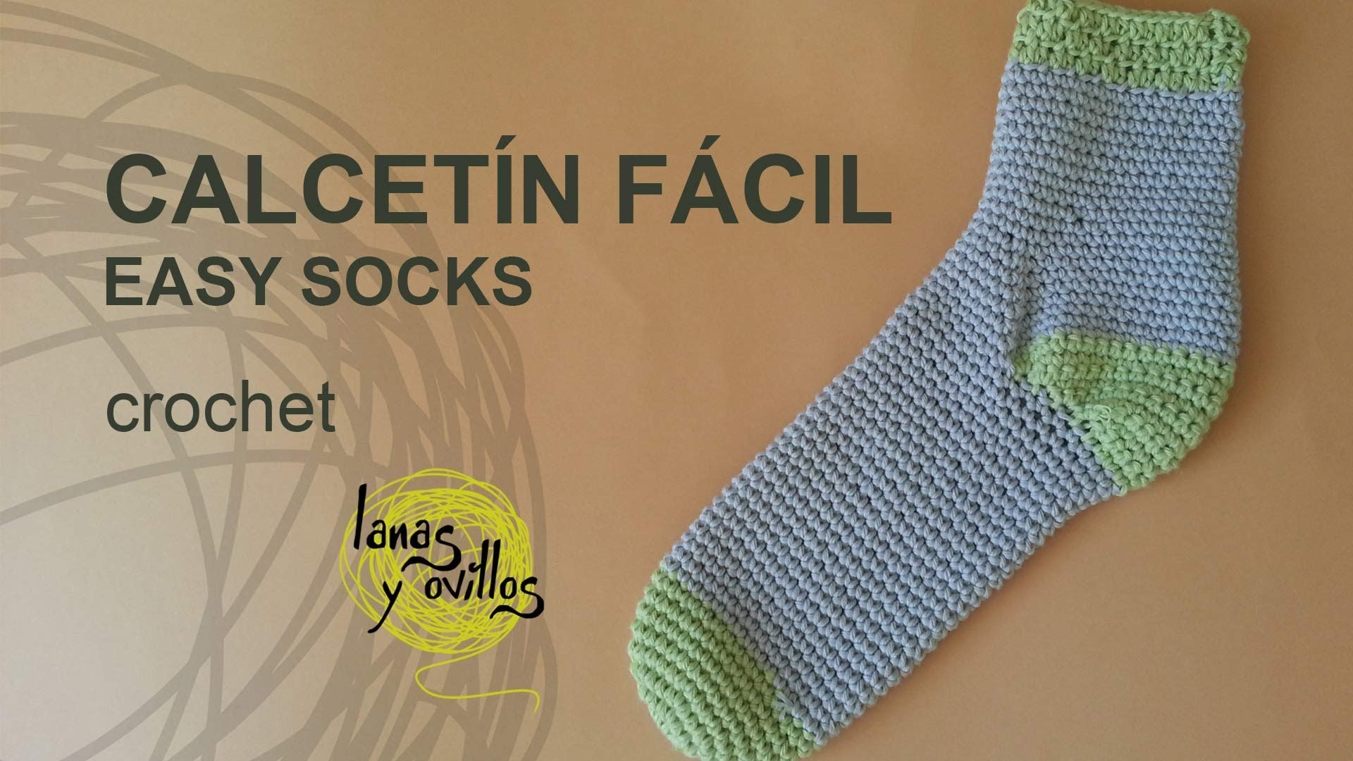 Tutorial Calcetines Crochet o Ganchillo Fácil