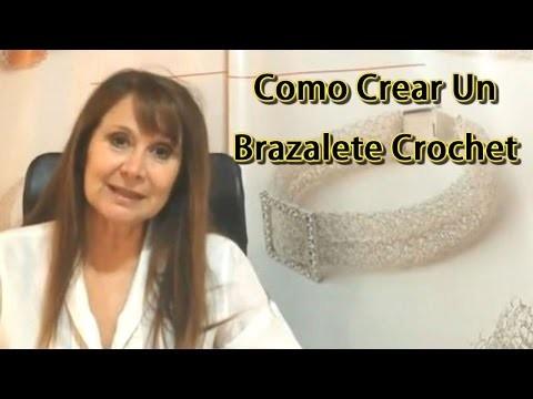 Tutorial Como hacer un Brazalete Crochet Tejido en Punto Peruano